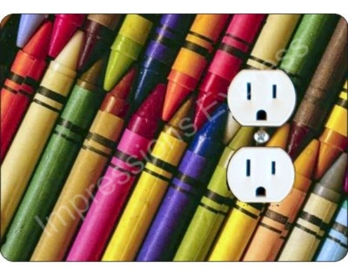 Featured listing image: Coloring Crayons Duplex Outlet Plate Cover