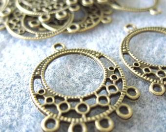 10 pcs - 26x33mm - Brass Filigree Chandelier - Jewelry Findings - F002