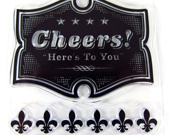 Cheers. Here's to you - Clear Stamp Block INCLUDED - clear rubber stamp