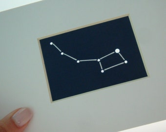 Little Dipper - Unframed Matted Aceo Asterism - Shadow Constellations Window Sun Catcher - Celestial Collection DDOTS