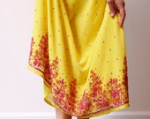 SUNFLOWER yellow embroidered skirt for petite XS