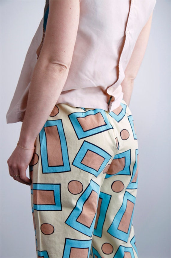 KEITH HARING style 80's print pants for petite sm/me