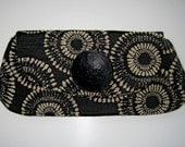 Black and White Clutch Bag -  Tribal Print Summer Fashion