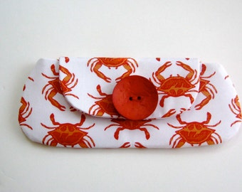 Orange and White Womans Clutch - Summer Gift Idea Fashions