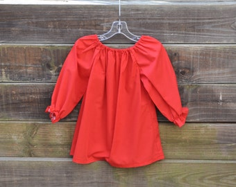 Peasant Blouse in Red