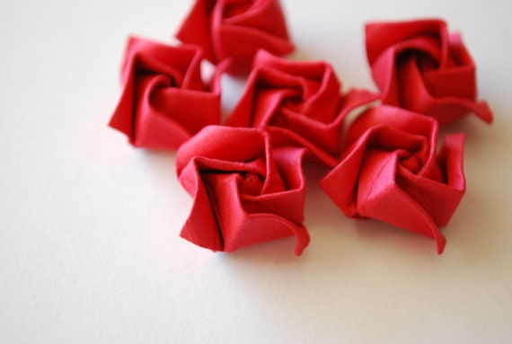 Miniature Origami Roses