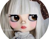 Blythe Doll Print ltd ed 19/100 - pastel goth - white hair - lady gaga