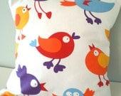 Crazy Birds Cushion / Pillow cover