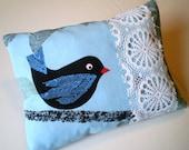 Blue Bird filled Pillow