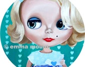 limited edition print 7/100 - Memphis the Kitsch blythe doll