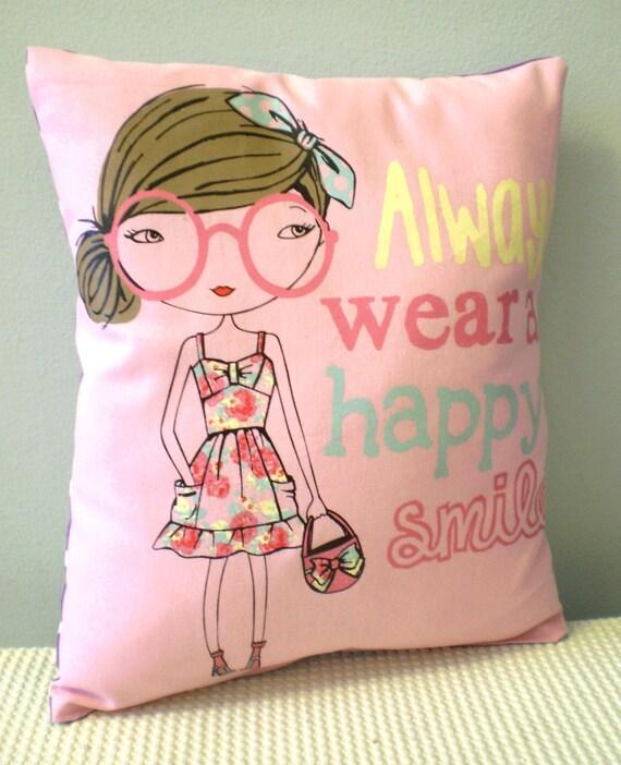 Kawaii Girl in Specs filled Pillow