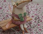 Reserved for Lin. Long nose rat, cute ceramic doll