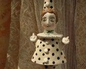 Pierrot. Sculpture, bell, doll