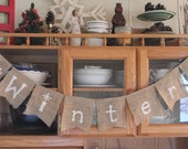 STORE SALE 60% OFF Winter Burlap and White Banner