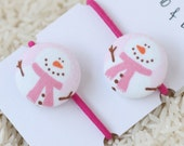 snowman - ponytail holders