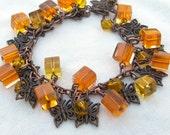 Charm bracelet - Autumn Colours