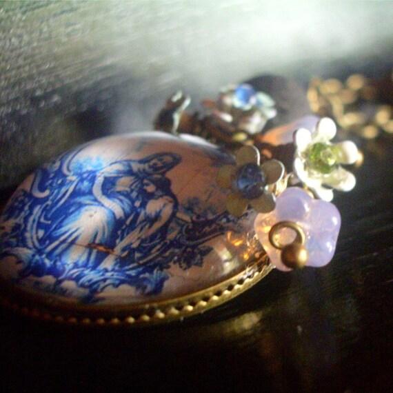 necklace pendant Saint Anne portuguese tile image Mary Mother