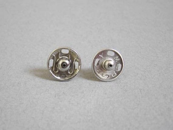 Popper earring studs, button earring studs, handmade in the UK