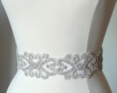 Rhinestone Bridal Dress Sash - Regal Elegance