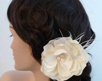 Bridal hair flower fascinator, hair clip - Brooke