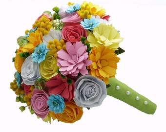 Paper flower bouquet, boutonnieres, corsages, centerpieces - Create your own custom order