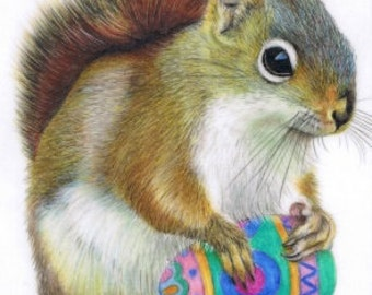 The Easter Nut ACEO jpeg file by award winning artist Karen Hull