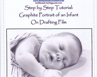 Step by Step Art Tutorial - A baby Portrait in Graphite Pencil by Karen Hull