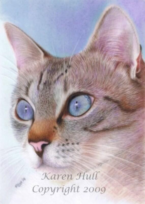 Wedgewood Blue ACEO jpeg file by award winning artist Karen Hull