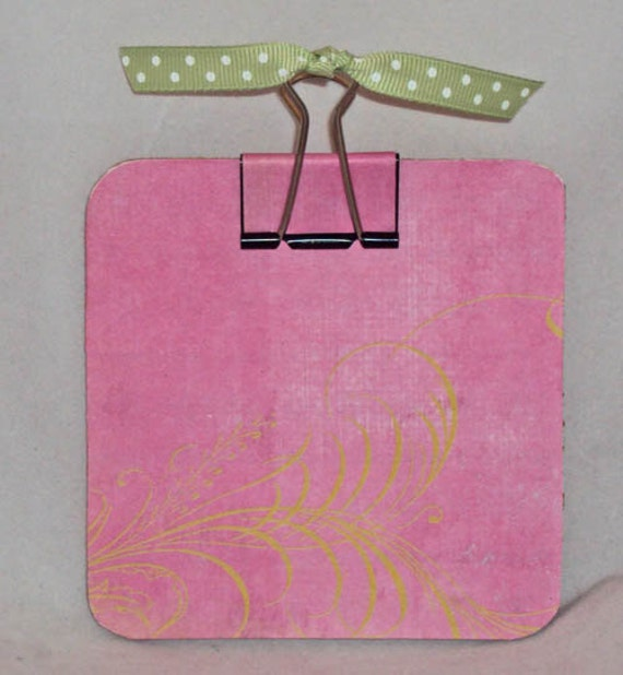 Olivia Pink Post-it Note Holder