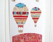 Hot Air Balloons Print (Letters and Postcards)