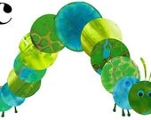 Nursery Art - C is for Caterpillar- (with a Black C)
