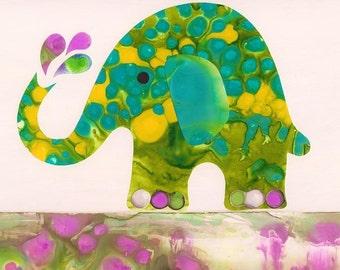 Elephant Art - Print (Little Elephant)