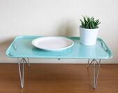 Turquoise fiberglass bed tray