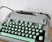 Vintage Hermes 3000 typewriter with case, swiss designed