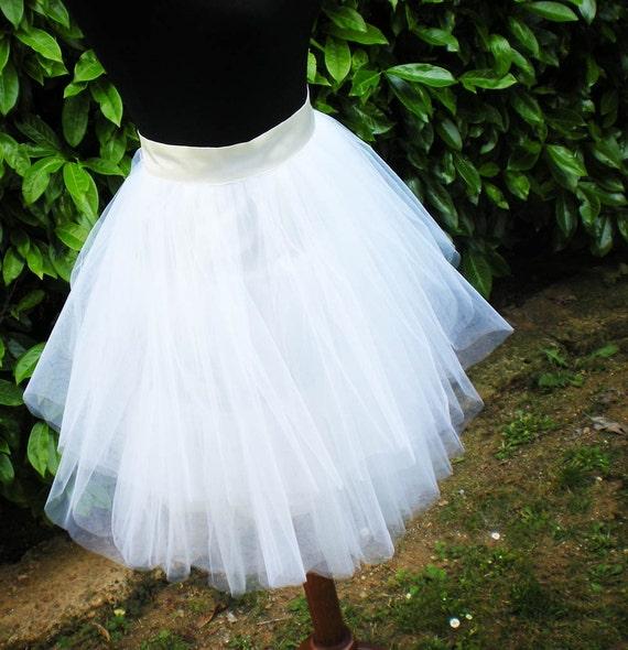 white tutu skirt by fuchsya on etsy