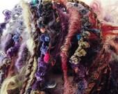 Handspun Art Yarn Poquito HARMONY SWIRL 12.5 yds