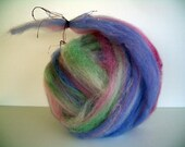 Wool Roving Batt Hand Pulled with a Treasure Inside DOWN THE RABBIT Hole