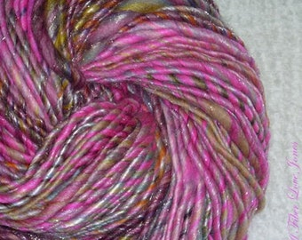 Glam Swag Art Yarn - 104 yards - Sparkly - Handspun - Single Ply - Thick and Thin - Novelty - Knitting - Crochet - Weaving, etc.