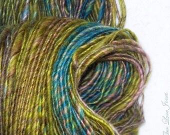 TOPS Handspun Luxury Yarn - 154 yards - Thick and Thin - Knitting - Crochet - Weaving - Mixed Media - Fiber Arts - Textile Arts