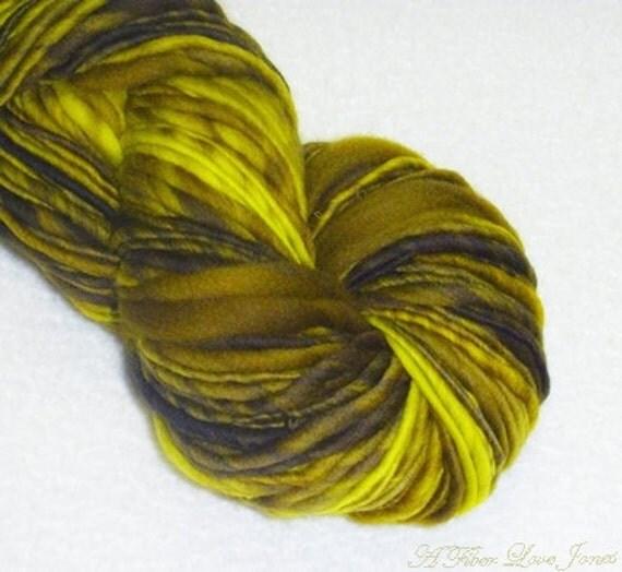 RESERVED - Smart Yarn 2.0 - Handspun Art Yarn - 78 yards - Bulky - Knitting - Crochet - Weaving - Felting  etc