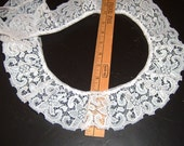 3 inch wide WHITE gathered lace trim 9 yds