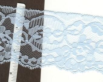 2.5 inch wide blue lace trim  25 yds  ( D572 )