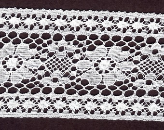 White Insertion lace trim 17 yds           (3259)