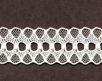 3/4 inch wide PINK beading lace trim 35 yds (D580)