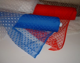 White  Aspirin Dot mesh  fabric   2 yds.  (8591)