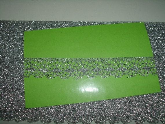 Silver metallic lace trim 5 yds  (M581)