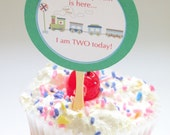12 Cupcake Toppers - Choo Choo Train - Perfect for BOYS
