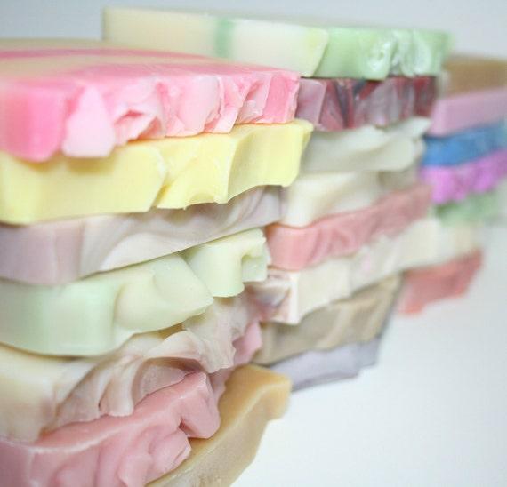 Bakers Dozen -  Soap Half bars - Cold Process Soap - Soap Sampler