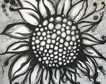 Cast Iron Sunflower Zero Carbon Footprint Art
