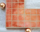 Mirror in Tangerine Faux Mosaic